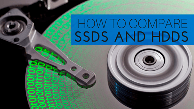 how to compare SSD vs HDD